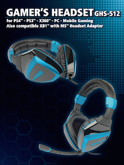 Multistandard Gamer Headset 5 in 1